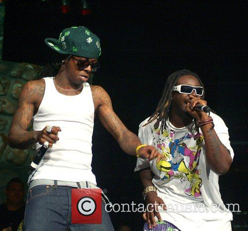 T-Pain and Lil Wayne Performing at the 2008...