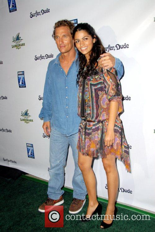 Matthew McConaughey and Camilla Alves The world premiere...