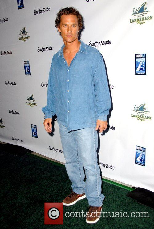 Matthew McConaughey The world premiere of 'Surfer Dude'...