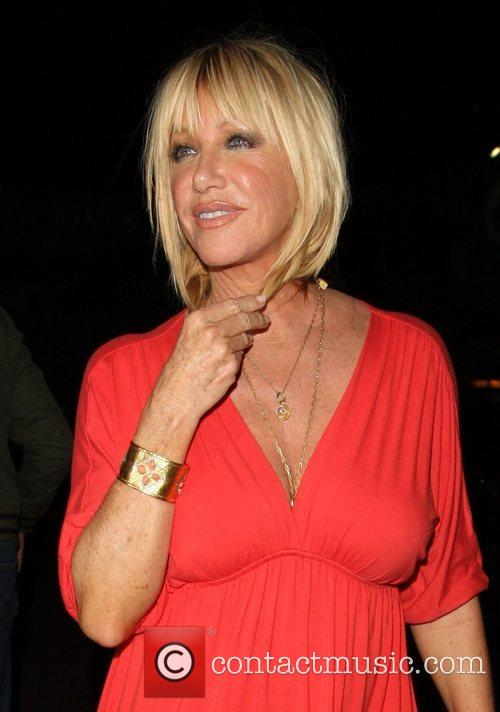 Suzanne Somers and Alan Hamel at Nobu in...