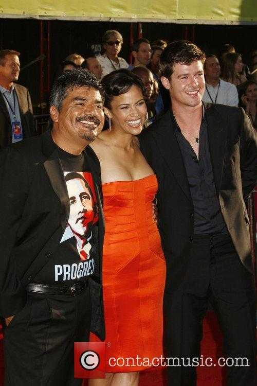 George Lopez, Paula Patton and Robin Thicke...