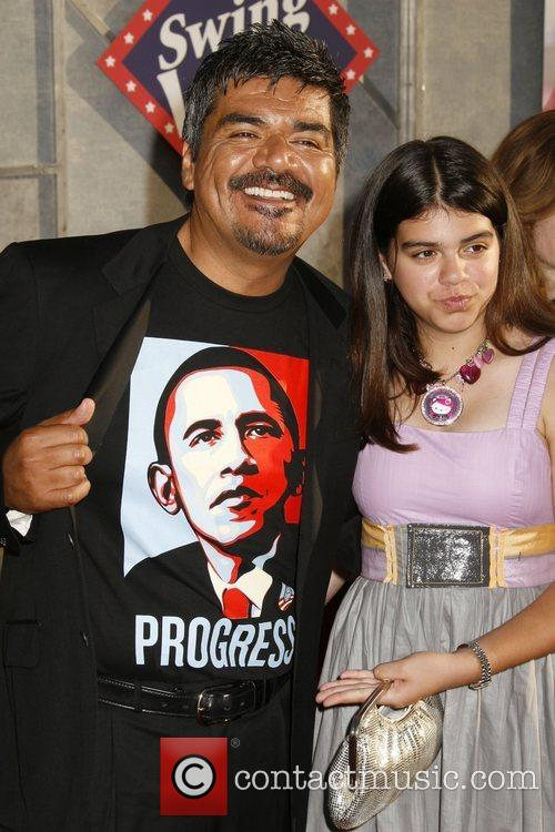 George Lopez with daughter Mayan Lopez 'Swing Vote'...