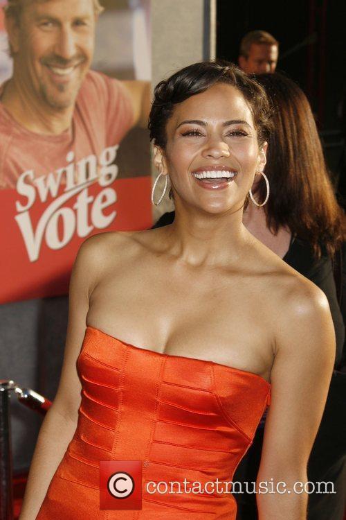 Paula Patton 'Swing Vote' Premiere held at El...
