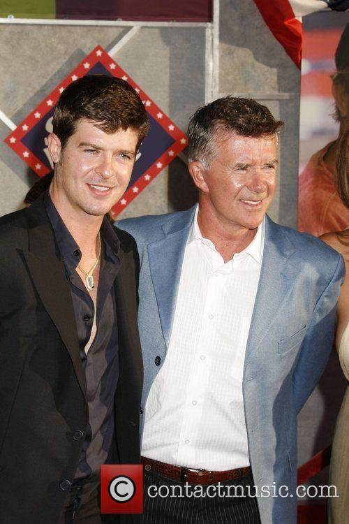 Robin Thicke and father Alan Thicke 'Swing Vote'...