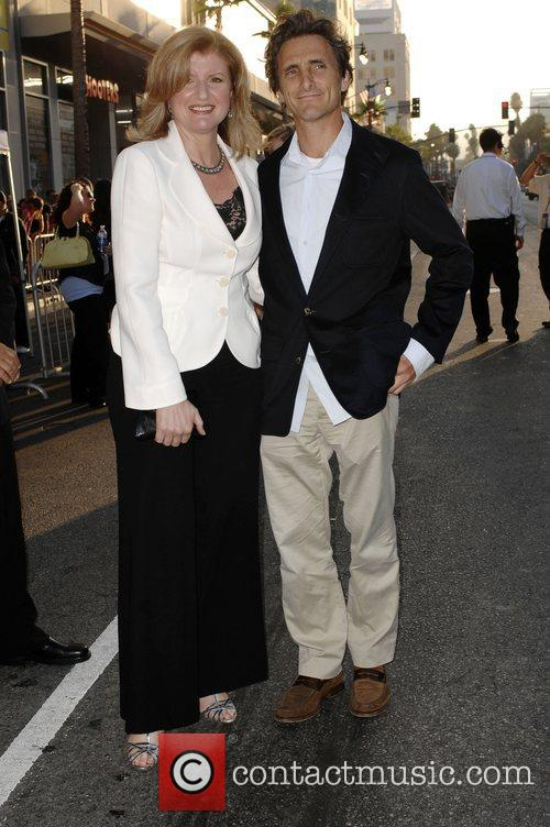 Arianna Huffington and Lawrence Bender World premiere of...