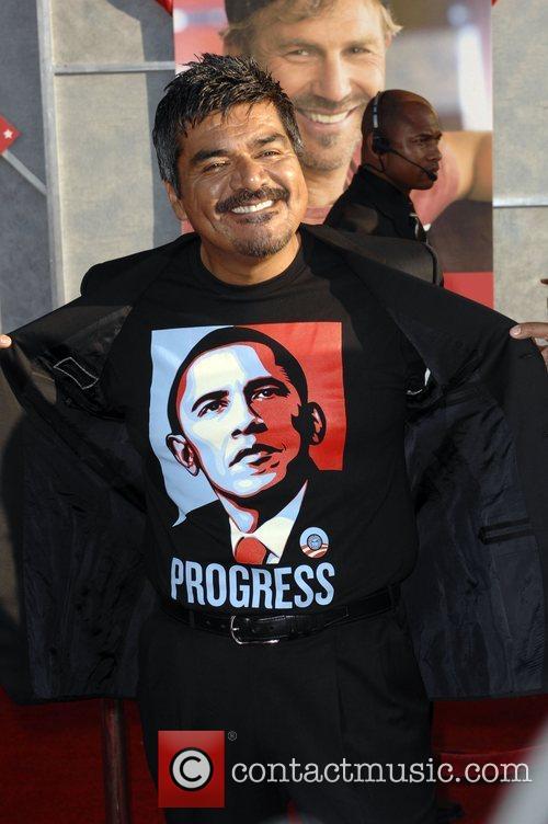 George Lopez World premiere of 'Swing Vote' held...