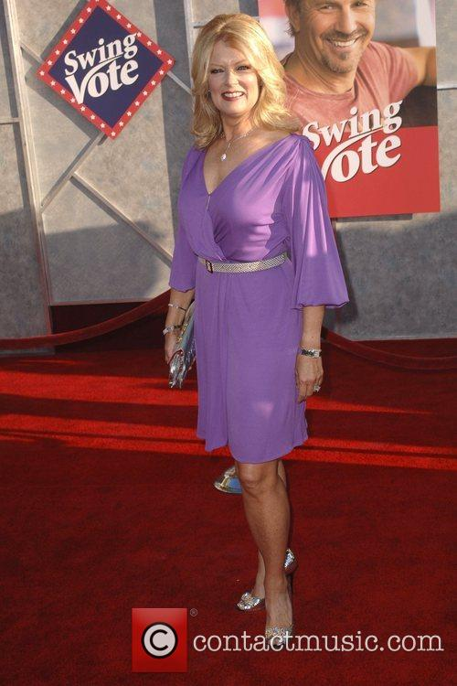 Mary Hart World premiere of 'Swing Vote' held...