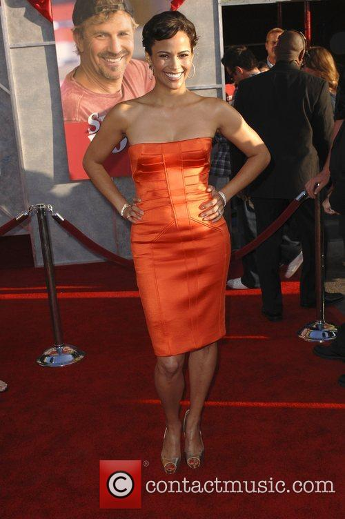 Paula Patton World premiere of 'Swing Vote' held...