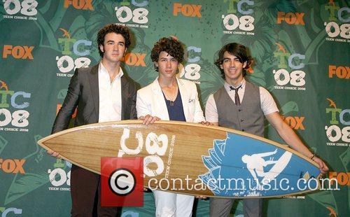 Nick Jonas, Kevin Jonas, Joe Jonas of The...
