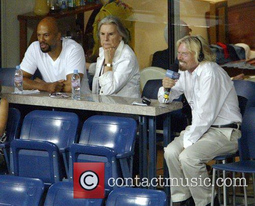 Rapper Common and Richard Branson 2008 US Open...