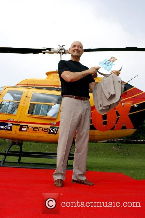 Terry O'Quinn arrives with a helicopter at Mediaparc...