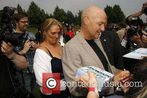 Terry O'Quinn and his wife Lori arrive at...