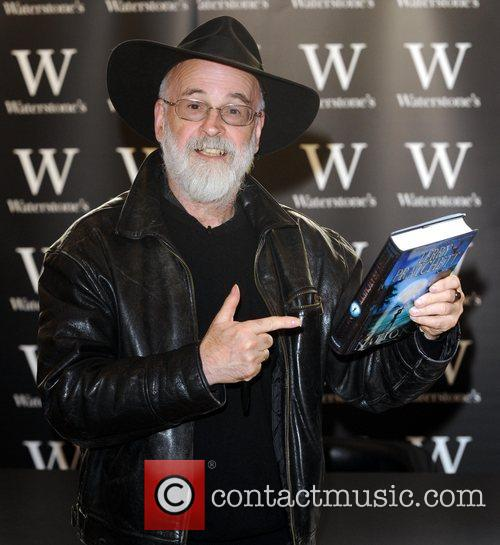 Terry Pratchett's new book 'Nation' booksigning at Waterstones...