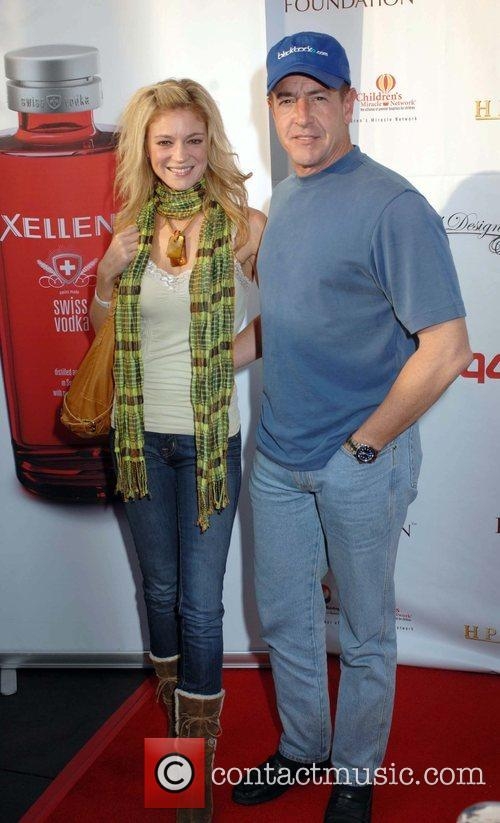 Michael Lohan and guest 3rd annual celebrity Texas...