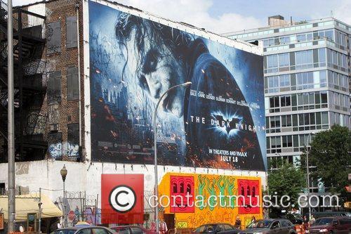 Heath Ledger as The Joker appears on a...