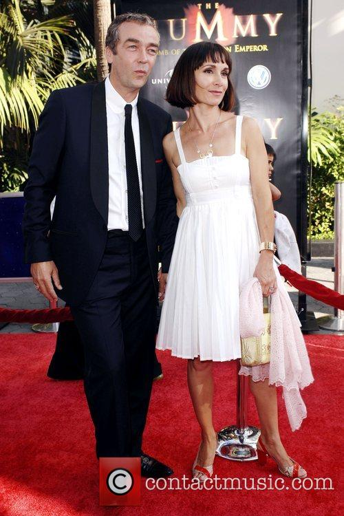 John Hannah and Guest Los Angeles Premiere of...