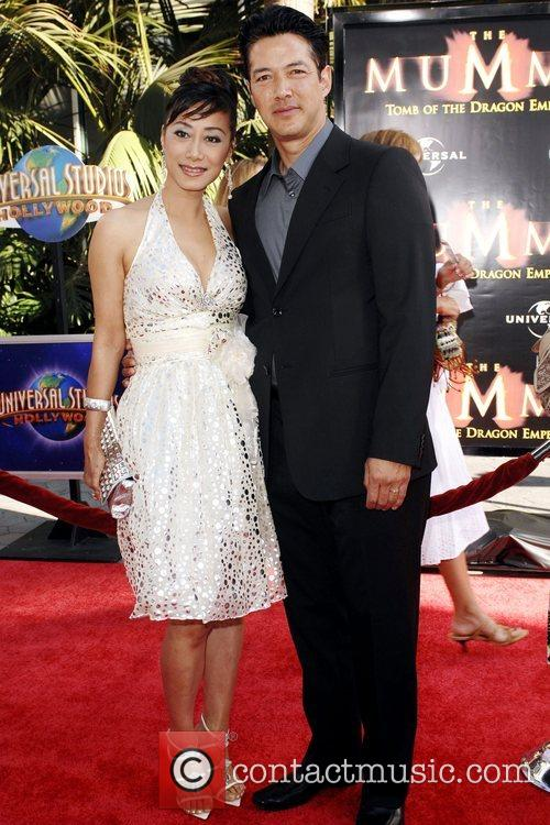 Russell Wong and wife Los Angeles Premiere of...