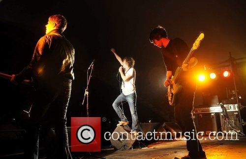 The Pigeon Detectives perform at the Leeds Festival...