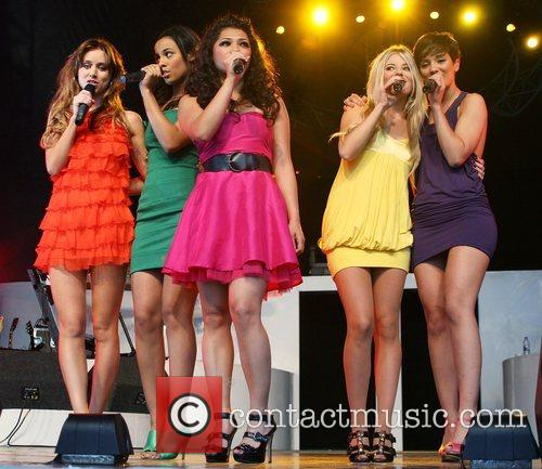 The Saturdays Performing live at 'Pop In The...