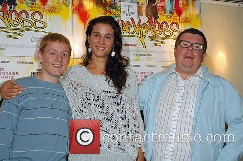Thomas Turgoose, Elisa Lasowski and Perry Benson 2