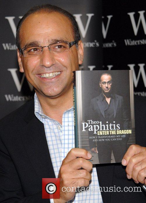 Theo Paphitis signs copies of his new book...