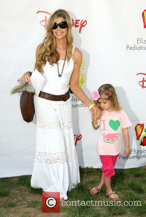 Denise Richards with her daughter Time for Heroes...