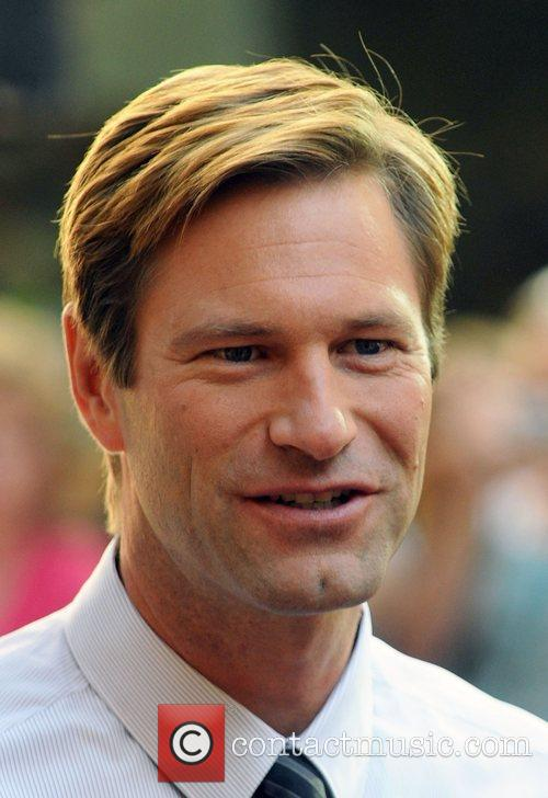 Aaron Eckhart arrives for his appearance on 'The...