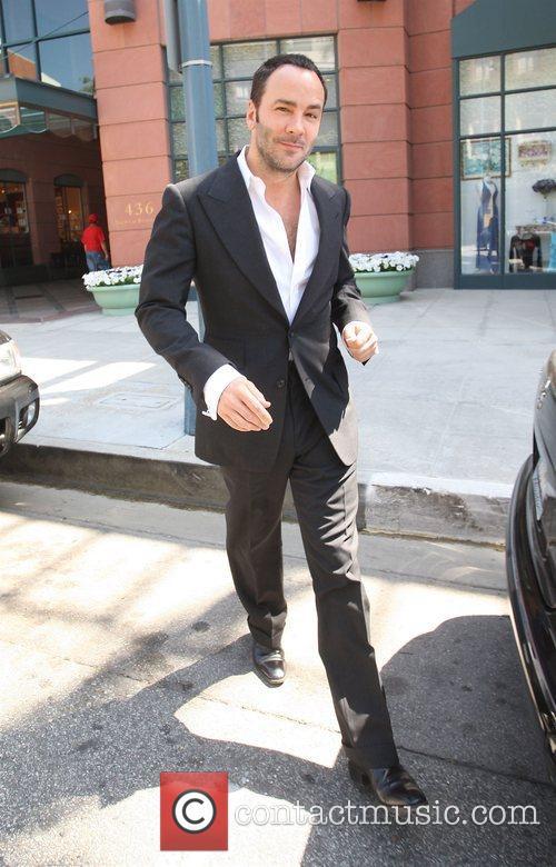 Tom Ford leaving Anastasia salon in Beverly Hills...