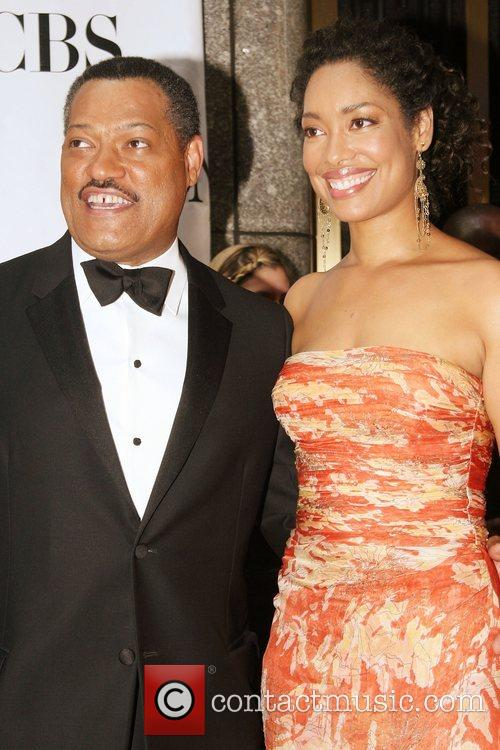 Laurence Fishburne and Gina Torres The 62nd Tony...