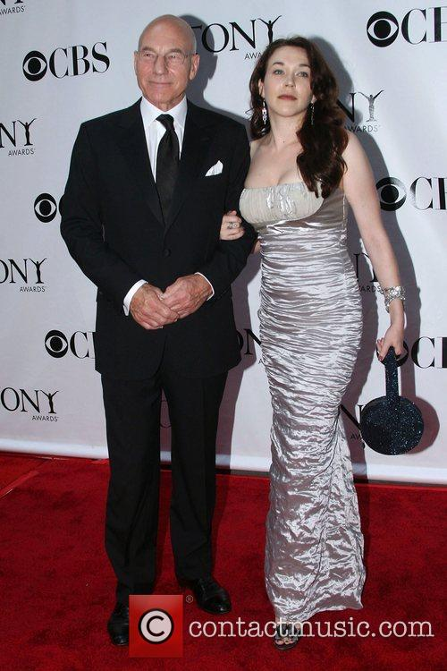 Patrick Stewart and guest The 62nd Tony Awards...