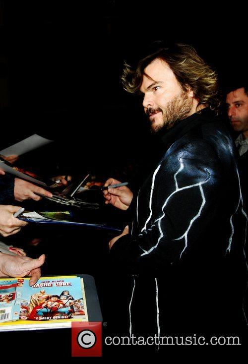 Jack Black, attends the UK Premiere of 'Tropic...