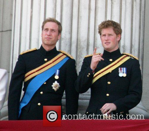 Prince William and Prince Harry on the balcony...