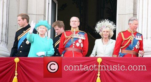 Prince William, Queen Elizabeth ll, Prince Harry, Prince...