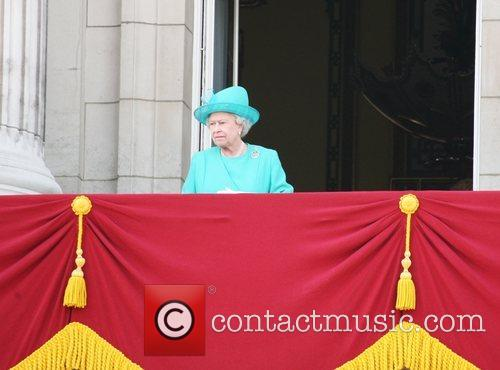 On the balcony of Buckingham Palace after trooping...