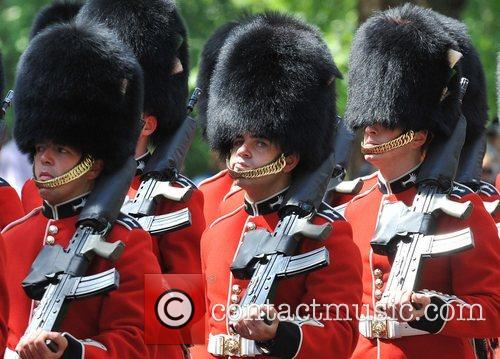 Atmosphere on their way to the Trooping the...