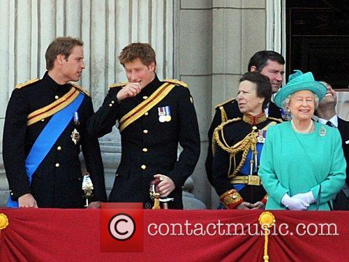 Prince Harry  sneezes aloud which captures the...