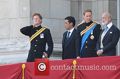 Prince Harry, The Duke Of Kent and Prince William 2