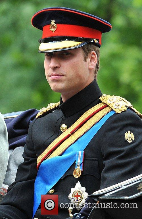 Prince William on their way to the Trooping...