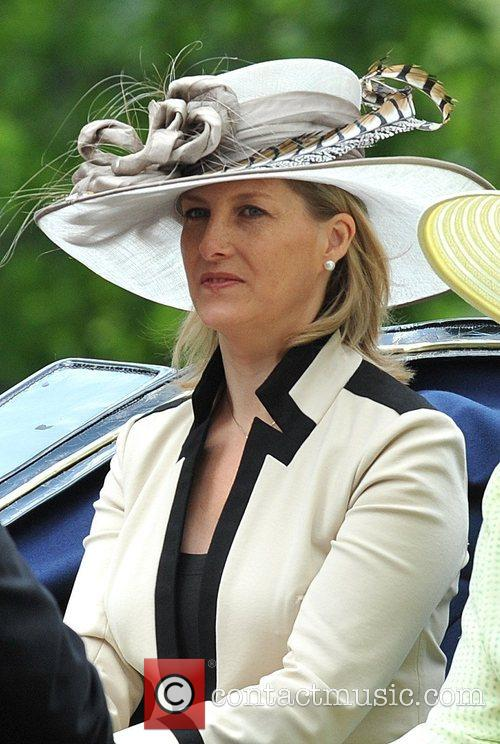 Sophie, The Duchess of York on their way...