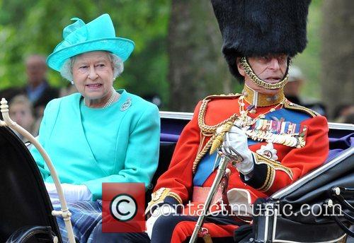 The Queen and the Duke of Edinburgh on...