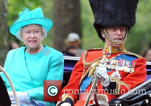 On their way to the Trooping the Colour