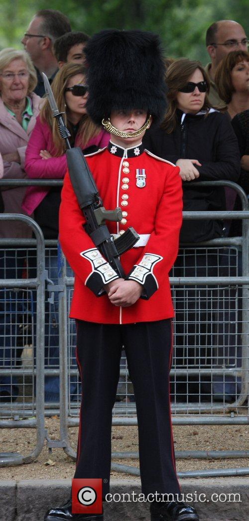 Atmosphere on his way to the Trooping the...