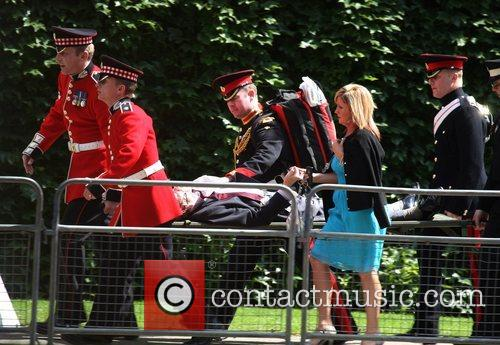 Medics attending to an emergency at the Trooping...