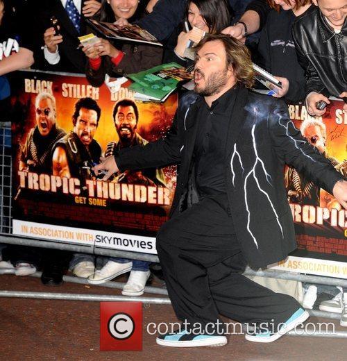 Jack Black The UK premiere of 'Tropic Thunder'...