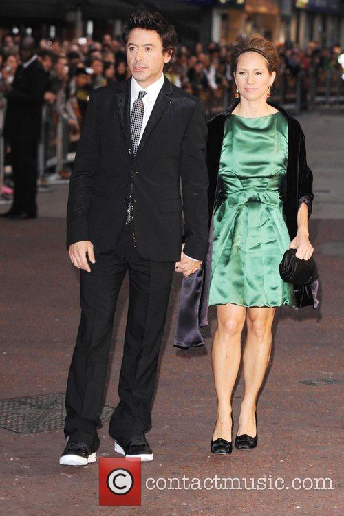 Robert Downey Jr and Guest The UK premiere...