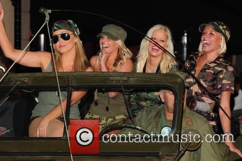 Models The UK premiere of 'Tropic Thunder' held...
