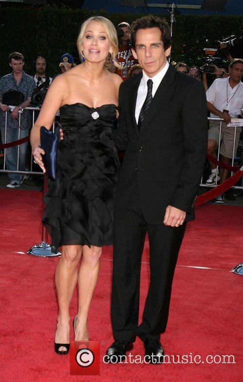 Christine Taylor and Ben Stiller Los Angeles premiere...