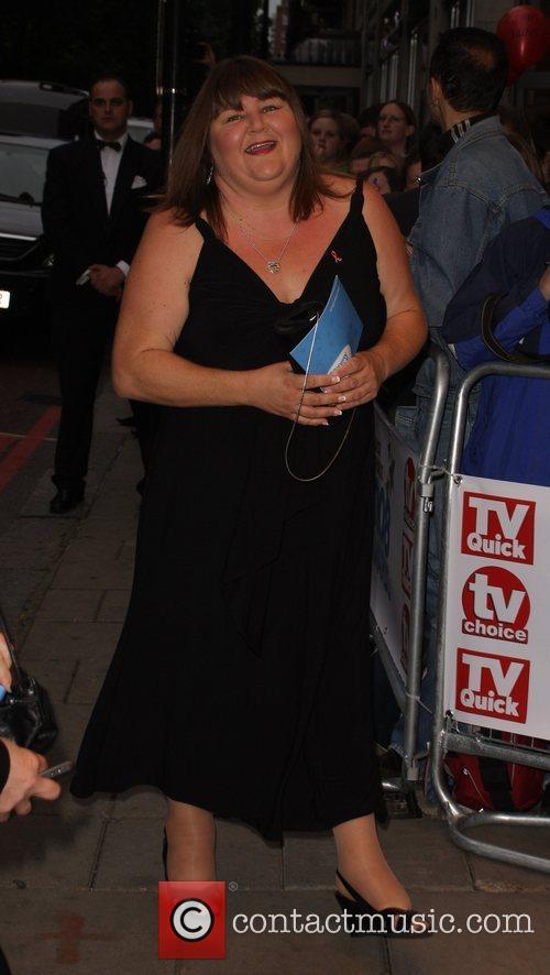 Cheryl Fergison, arrive at TV Quick & TV...