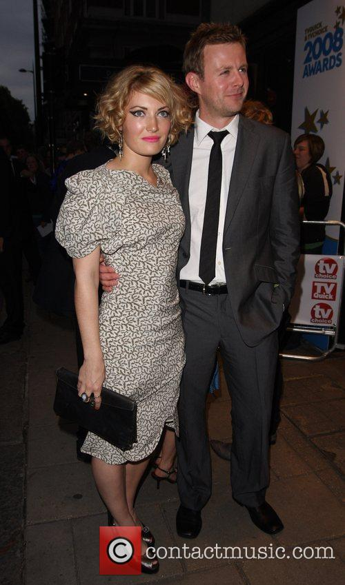 Sally Oliver and Tom Lister, arrive at TV...