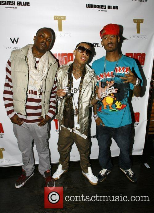 Tyga and guests The launch party for Tyga's...